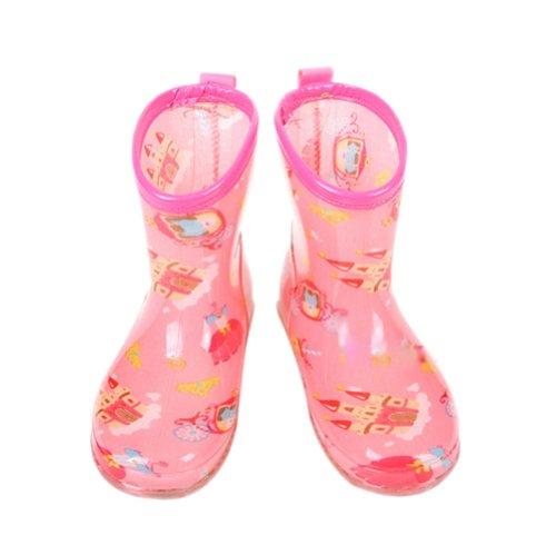 Château de rose pour chaussures de pluie bébé Rain Boot journée Pluvieuse l'usure en caoutchouc Chaussures