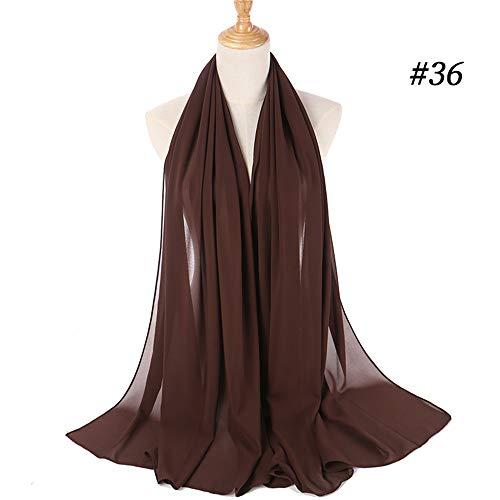 Muslim-Schal-Frauen-Chiffon- Hijab Plain Silk Tücher Schals-Kopf-Verpackungs Kopftuch Hijab Muffler,41