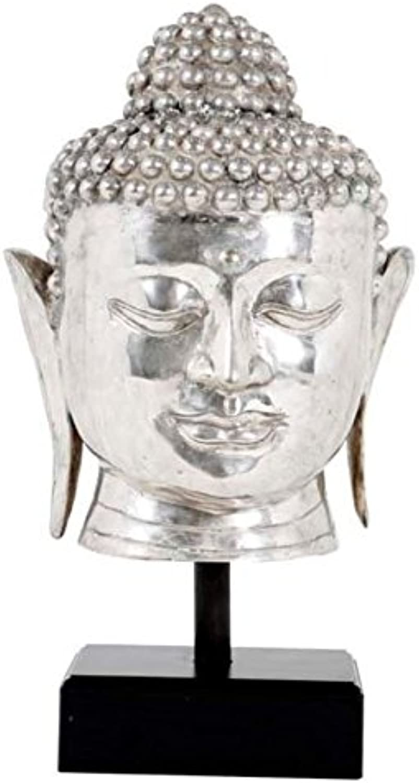 Casa Padrino Luxus Buddha Silber Schwarz 28 x 24 x H. 55 cm - Hotel Restaurant Deko B078LH9ZPL | Deutschland Store