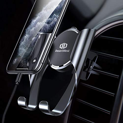 DesertWest Handyhalterung Auto Handyhalter fürs Auto Lüftung Universale Handy KFZ Halterungen Phone Halter mit Automatische Erinnerungsfunktion für iPhone, Samsung, Huawei, LG und mehr