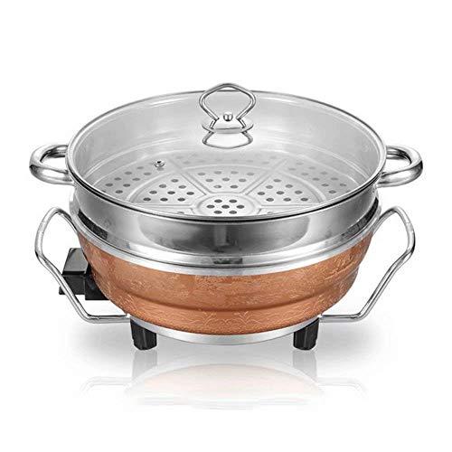 AJH BBQ Hot Pot, Home Multi-Function Five-Speed Temperature Control Hot Pot de Cuisson à économie d'énergie One Potl, Hot Pot