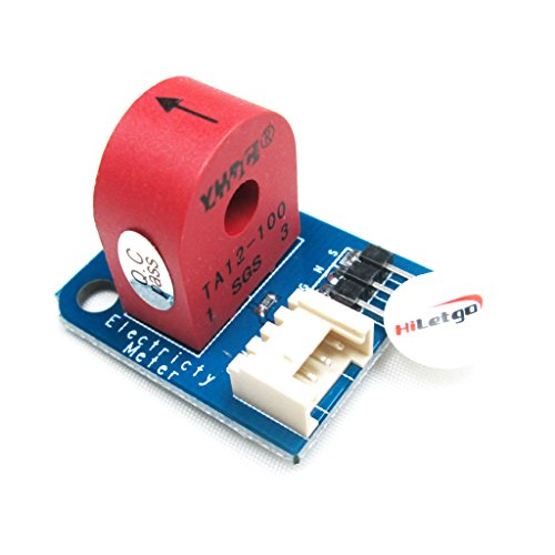 HiLetgo Analog Current Meter Sensor Module AC 0~5A Ammeter Sensor Board Based on TA12-100 for Arduino