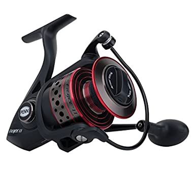 Penn FRCII5000C Fierce II Spinning, 5000C, Black/Red/Smoke
