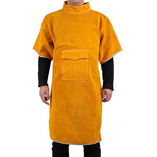 Delantal de Cuero para Soldador, Mandil Ajustable Pantalones de Soldadura de Cuero Resistente A Salpicaduras para Soldar, Forjar