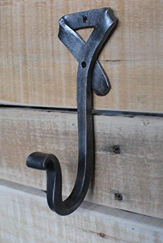 GoCraft - Perchero de hierro forjado para abrigos, sombreros, bufandas, llaves, metal forjado decorativo colonial decoración de pared