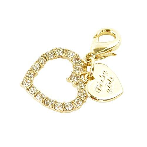 チャームパーツ ゴールドカラー p-charm-121-05-ハート×プレート/マスクチャーム オリジナル キラキラ モチーフ 飾り