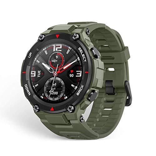 Amazfit Smartwatch Herren T-Rex 1,3 Zoll Outdoor Digitale Uhr wasserdichte Sportuhr mit militärischem Qualitätsstandard, GPS, Schlafmonitor, 14 Sportmodi für Damen Herren, Grün