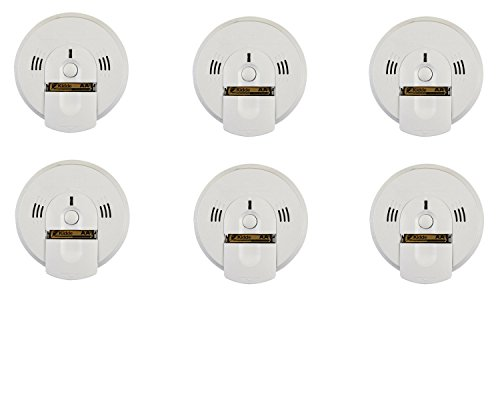 Kidde 6PK KN-COSM-BA Battery-Operated Combination Carbon Monoxide and Smoke Talking Alarm (6 Pack), WHITE
