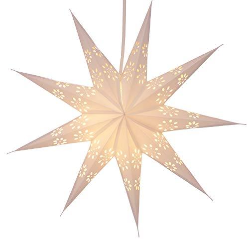 Papierstern / Weihnachtsstern Phoenix / Papierstern 7 Zacken/ Variante: Farbe: natur-weiß