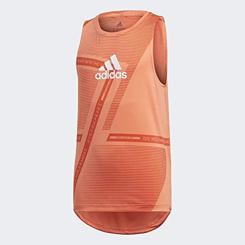 adidas Jg Tr Br Sl Tee ärmelloses T-Shirt für Mädchen XXXL Weiß (semcor/ambglo/Blanco)