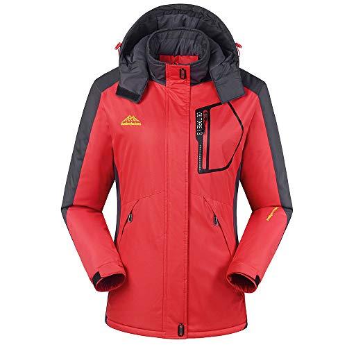 YKARITIANNA Anorak, Women's Winter Outdoor Cashmere Thickening Zipper Hoodie Sport Outdoor Coat Down Jackets & Parkas