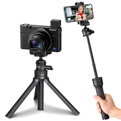Selfie Stick Stativ, ULANZI MT-34 Handy Stativ Extendable 2 in 1 mit Handyhalterung, Mini Kamera Dreibein Stativ Ständer 360°Rotation für iPhone Samsung Huawei Smartphone und DLSR Kamera