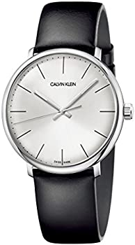 Calvin Klein High Noon 40mm Silver Dial Leather Men's Watch