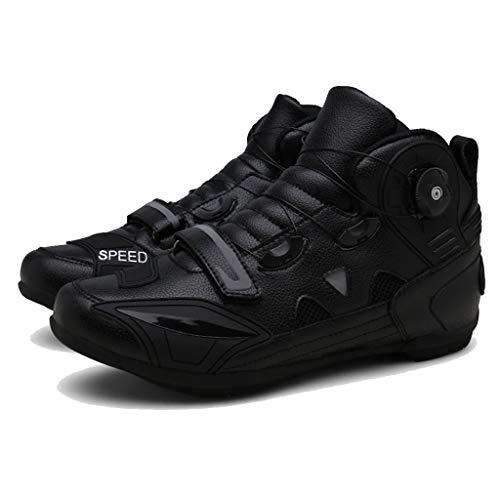 LIXIYU Mens Scarpe da Ciclismo Scarpe MTB della Bicicletta Mountain Bike Scarpe Spinning Traspiranti Cycling Shoes Rotazione Pulsante Velcro Mountain Coppia,Black-41