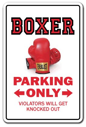 "Boxer Fighter Decal Parking Boxing Gloves Title Punching Bags wrap | Indoor/Outdoor | 9"" Tall"