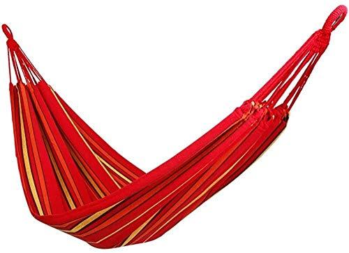 Hamac robuste et magnifique, Hamac de jardin Hamacs en toile portable Hamacs rayés Hamac Swing pour envoyer un sac de rangement en corde attachée Hamac extérieur Feuilles Les gens augmentent la toi