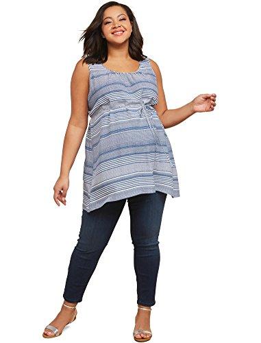Motherhood Maternity Women's Maternity Indigo Blue Stretch Secret Fit Belly Ankle Denim Jegging, Dark wash, Small