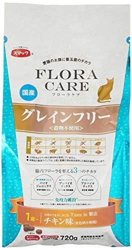スマック キャットフード フローラケア猫用グレインフリー 1歳以上 チキン味 720g(120x6袋)