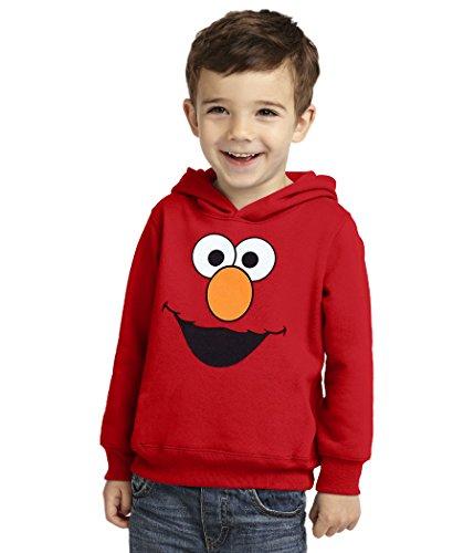 Sesame Street Elmo Face Toddler Hoodie-5T Red
