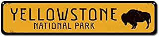 NIUMEA Buffalo National Park Sign, Personalized Park Destination Sign, Yellowstone National Park Custom Location Sign - Small Metal Sign 3