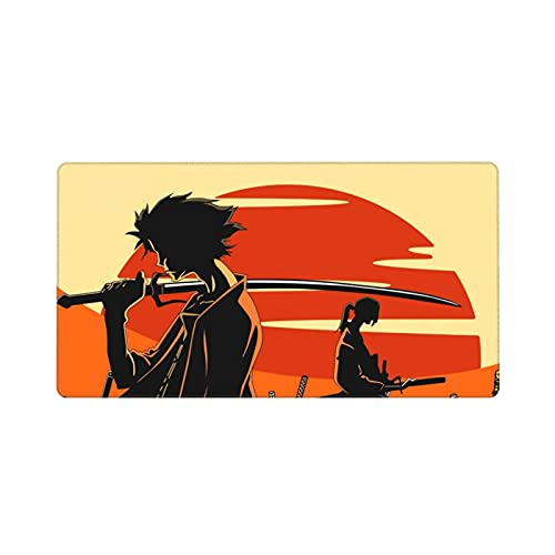 Samurai Champloo Mouse Pad Anime Large Extended Gaming Mousepad for Gamer Office Home 29.5x15.8 in