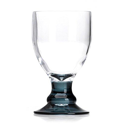Flamefield Bella Verres à vin en acrylique fumé oz/400 ml – Lot de 4   résistant à la casse, Verres en Acrylique de qualité supérieure