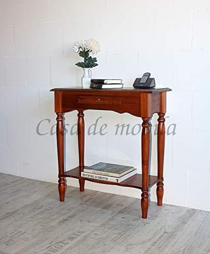 CASA Massivholz Pappel Konsolentisch kirschbaumfarben Wandtisch Telefontisch Guéridon
