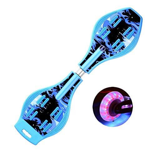 ZWLI Waveboard Pro Bis 100 kg | Mit LED Leuchtrollen, Tasche und Zubehör für Kinder für Kinder, Jungen, Mädchen, Jugendliche -Design für Anfänge Geschenk für Kinder
