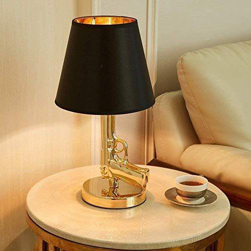 Eastinghouse Gold Gun lamp pistool vorm bedlampje klassieke slaapkamer lampen voor woonkamer nieuw LED bureau lampen galvaniseren