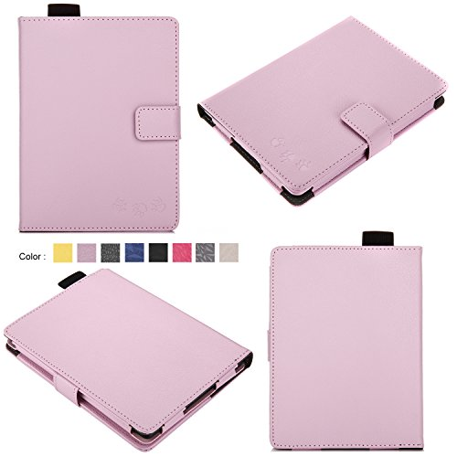 Bear Motion for Kindle 8th Generation Case - Premium Folio Case for All-New Kindle (8th Generation, 2016) - Light Purple