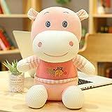 KXCAQ 38cm-70cm Hippo Plush Dolls Stuffed Animal Hippopotamus Toy Cute Toy Birthday for Children Kids Toys Gift 55cm Pink