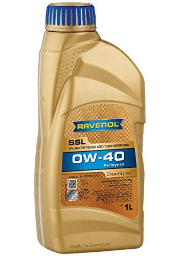 RAVENOL SSL SAE 0W-40 / 0W40 Vollsynthetisches Motoröl (1 Liter)
