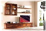 Artigiani Veneti Riuniti Mueble de TV para Pared salón en Madera de artesanado