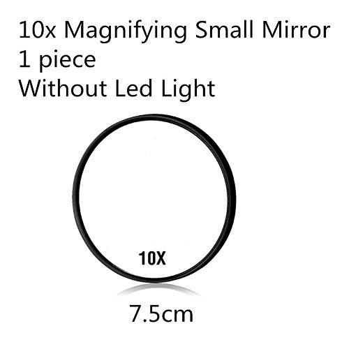 LED-Touchscreen-Make-up-Spiegel, professioneller Kosmetikspiegel mit 16/22 LED-Lichtern, verstellbar, 180 Grad drehbar, Farbe: kleiner Spiegel in Schwarz