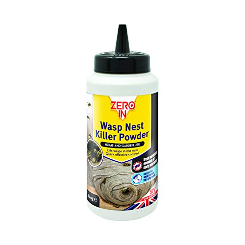 Zero In Wasp Killer Nest Control (Enhanced Puffer Pack, Targets Placement in Nests Indoors and Outdoors for Home and Garden Use), 300 g