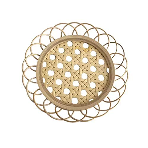 Qiujing Bamboo Flower Cup Holder Coasters Anti-Scalding Cup Coasters Heat Resistant Mat Non-Slip Pot Holder Table Placemat