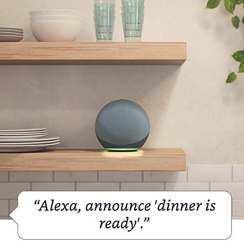 Echo (4th generation)   With premium sound, smart home hub and Alexa   Charcoal