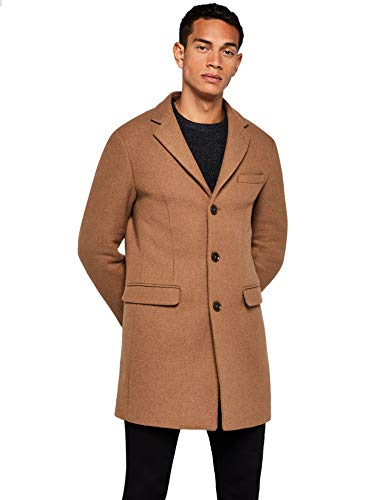 Amazon-Marke: find. Herren Mantel Wool, Braun (Camel), S, Label: S