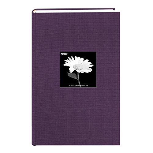 Álbum de fotos Pioneer Photo Albums com capa de tecido com moldura, 300 bolsos, comporta fotos de 10 x 15 cm, Wildberry Purple