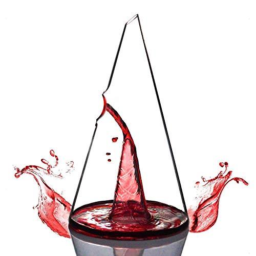 Moligh doll Decanter per Vino, Decanter a Piramide, personalità Creativa, Cascata di Vino Rosso, Separatore di Vino con Filtro Veloce, 750 Ml