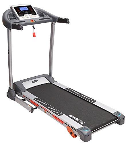 SportPlus Laufband bis 16km/h, manuelle Steigungsverstellung bis 12%, leiser Motor, 24 Laufprogramme, APP & Smartphone-Steuerung, gelenkschonendes Dämpfungssystem, schneller Aufbau, klappbar - SP-TM-4216