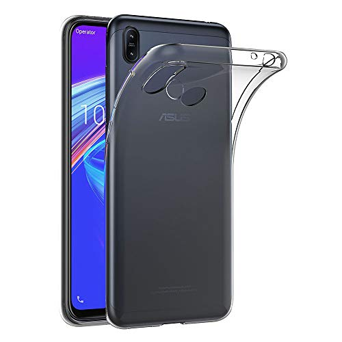 AICEK Hülle Compatible für ASUS Zenfone Max (M2) Transparent Silikon Schutzhülle für ASUS Zenfone Max ZB633KL Case Clear Durchsichtige TPU Bumper ASUS ZB633KL Handyhülle (6,26 Zoll)