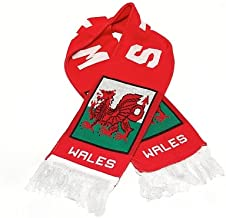 Wales Fan Scarf | National Soccer Rugby Team | Premium Acrylic Knit