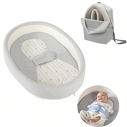 Cot & Go Baby Nest | Portable Organic Baby Bassinet | Round Baby Pod Travel Cot | Integrated Swaddle