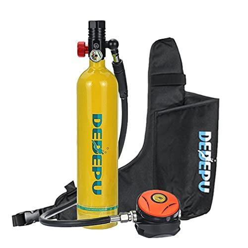 Botella de buceo Cilindro de oxígeno Tanque de buceo Tanque de respirador Válvula de respirador Equipo de buceo Conjunto for entrenamiento bajo el agua. Equipo de buceo, cilindros de inmersión.