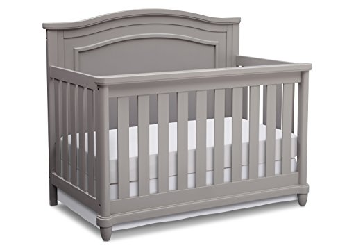 Simmons Kids Belmont All-in One Convertible Crib and Rail Kit, Grey
