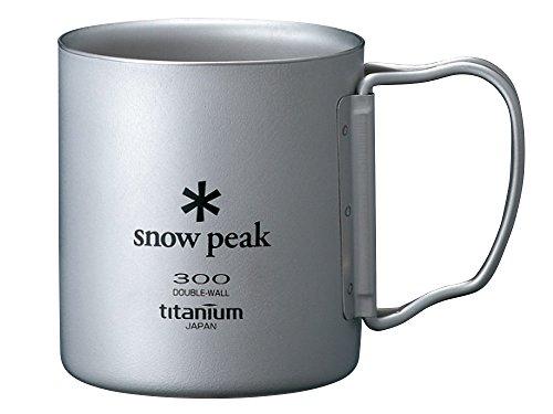 Snow Peak Unisex Titanium Double Wall 300 Mug Titanium One Size