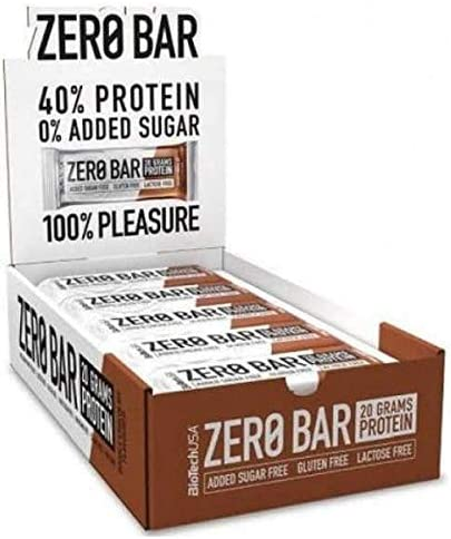 Biotech USA Zero Bar - 20 Barritas x 50 gr Double Chocolate