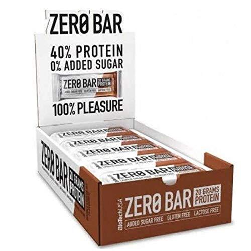 BioTech USA Zero Bar, Cioccilato Cocco - 20 Barette da 50 g con 22.5 g di Proteine