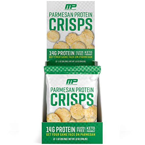 MusclePharm Protein Cheese Crisps, 14g Protein, Parmesan, 1 Ounce, 12 Count from AmazonUs/MUSZM